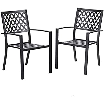 Miraculous Phi Villa 2 Piece Patio Wrought Iron Chair Outdoor Dining Set With Armrest Supports 300 Lbs Gmtry Best Dining Table And Chair Ideas Images Gmtryco