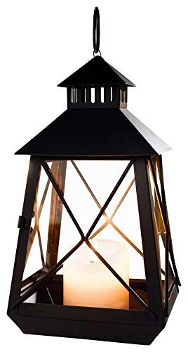 PierSurplus Metal European-Style Hanging Candle Lantern Holder Rustic Wedding Decorations Small -