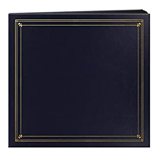 Pioneer Photo Albums 204-Pocket Post Bound Leatherette Cover Photo Album for 4 by 6-Inch Prints, Navy Blue