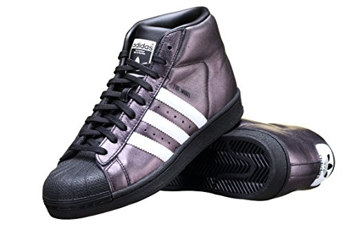 Leather Blk Wht Mens Sneakers - 2