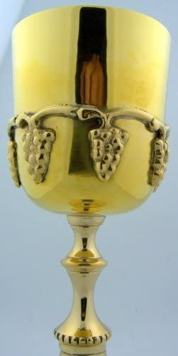 Cathedral Art PS123 Polished Brass PYX Silver Communion Glass Large