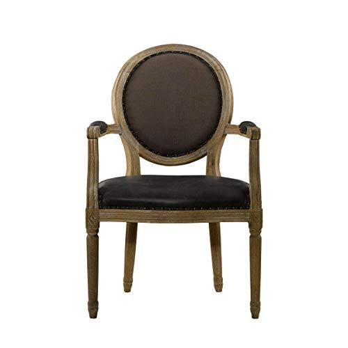 Curations Limited French Vintage Louis Glove Round Arm Chair (Curations)