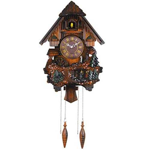 JSHFD Vivid Large Cuckoo Clock Wall Cuckoo Clock Chime Has Automatic Shut-Off [Kitchen & Home] (Color : B, Size : One Size)
