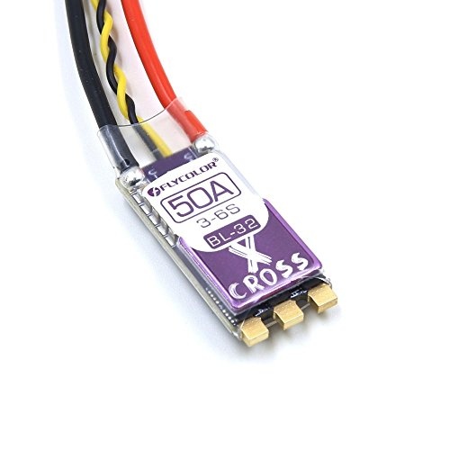 Flycolor X-Cross Blheli_32 50A 3-6S ARM 32bit DSHOT1200 Brushless ESC for FPV RC Models Multicopter Frame Motor Review