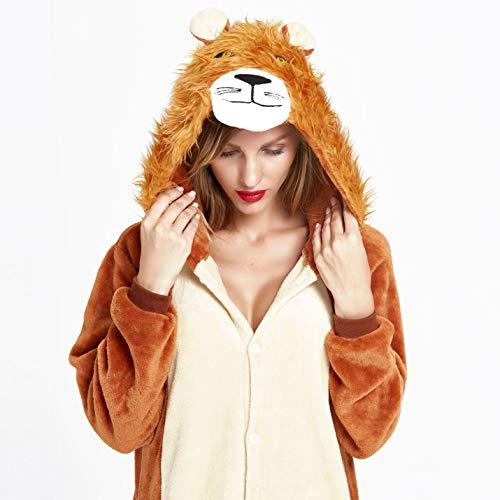 NOUSION Licorne Unisex Adult Pajamas, Cosplay Christmas Unicorn Sleepwear Onesies Outfit (S, Lion)]()