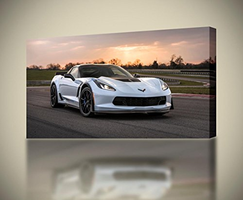 Dizzy Chevrolet Corvette Carbon65 Sports Car CANVAS PRINT Wall Giclee Art Poster CA924, Regular