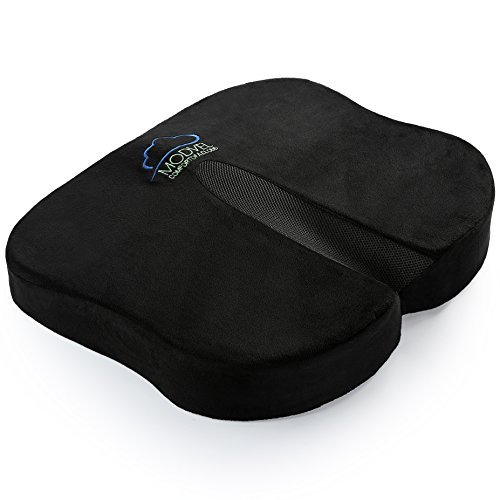 Modvel Seat Cushion For for Office Chair | Lower Back Pain, Tailbone, Coccyx & Sciatica Relief | Pure Memory Foam For Relaxing Yoga & Meditation | Lightweight & Portable | Home & Car Use (MV-103)
