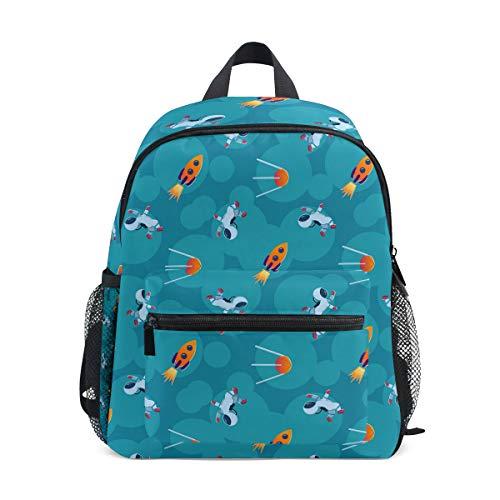 - FOLPPLY kids School Bag Space Rocket Astronaut Pattern Preschool Backpacks Children Travel Daypack for Boys Girls