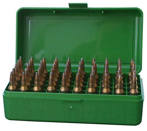 MTM Plastic Ammo Box, Green 50 Round 223/5.56 / More (3) ()