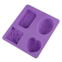 OHYESS 3D DIY Butterfly Snowmen Flower Silicone Soap Mold Kitchen Baking Utensil Household Cake Clay Mold