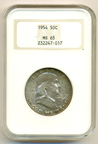 1954 Franklin Half Dollar MS65 NGC