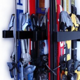 Ski and or Snowboard Binding Rack Wall Mount