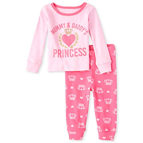 The Children's Place Baby Girls Two Piece Pajama Set, Charisma, 3-6MONTHS