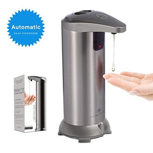 glamfields Soap Dispenser 3.0 Touchless Automatic Soap Dispenser Hands-Free Motion Sensor Liquid Dish Soap Dispenser,Stainless Steel, Water Resistant for Kitchen Bathroom