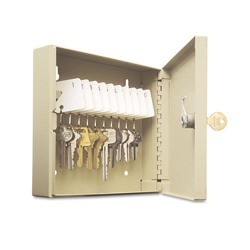 (SteelMaster 201901003 Uni-Tag Key Cabinet, 10-Key, Steel, Sand, 6 7/8