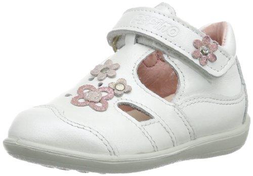 Ricosta Edisa(M) 1820100 - Zapatos para bebé de cuero, color blanco, talla 18 Blanco (Weiß (Weiß 813))