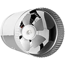 """TerraBloom Inline Duct Fan 100 CFM, 4 Inch, HVAC Metal Booster Blower For Exhaust and Intake Through 4"""" Ducting"""