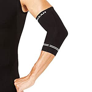 Zensah Compression Tennis Elbow Sleeve for Elbow Tendonitis, Tennis Elbow, Golfer's Elbow - Elbow Support, Elbow Brace,Small,Black