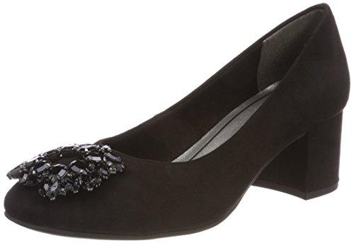 22443 Tozzi Couvert Avant Pieds Talons Marco Femme black À Chaussures Du Noir q5xdR