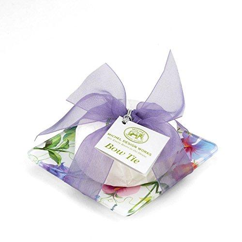 Michel Design Works Bow Tie Soap Dish Set, Sweet Pea