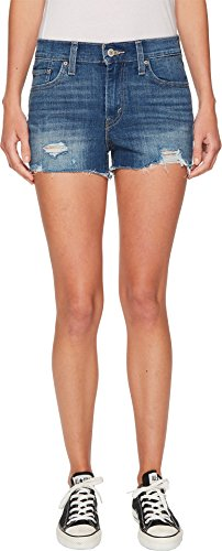 Levi's Women's 501 Shorts, Cut Throat, 24 (US (Button Fly Denim Shorts)