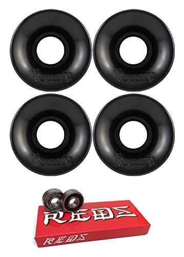 効能ある以前は生まれ59 mm Penny SkateboardsスケートボードWheels with Bones Bearings – 8 mmスケートボードベアリングBones Super Redsスケート定格 – 2アイテムのバンドル