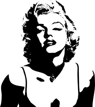 Marilyn Monroe Silhouette Version 4 Vinyl Wall Art Decal Part 18