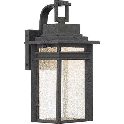 Quoizel BEC8406SBK Beacon Outdoor Wall Sconce, 1-Light, LED 14 Watts, Stone Black (13