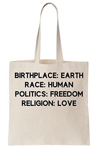 Freedom Love Politics Place Birth Religion Human Free Bag Tote Mind Earth And Soul Race Canvas CwXaqS4