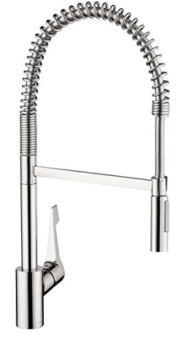 Hansgrohe Single Handle Semi-Pro Kitchen Faucet with Toggle Spray (Cento - Chrome)