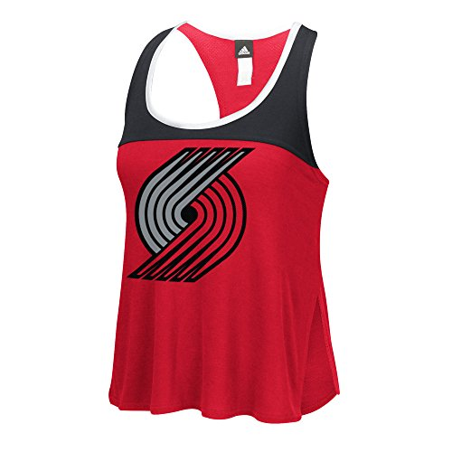 NBA Portland Trail Blazers Women's Color Block Tank Top, XX-Large, Red (Portland Trailblazers Tank Top)