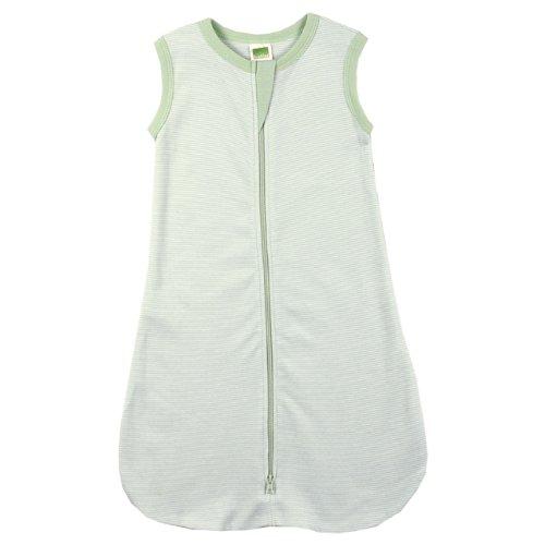 Kushies Unisex-baby Newborn Everyday Layette Sleep Blanket, Green, 0-6 (Kushies Cotton Blankets)