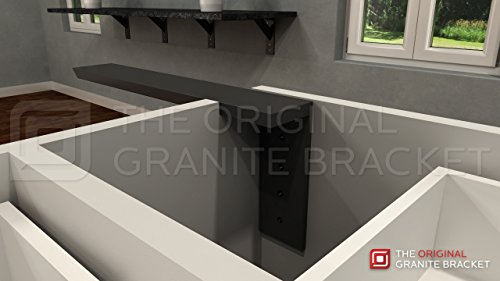 Countertop Support Bracket Side Wall Bracket 22'' Right Angle by Wholesale Hidden Granite Brackets (Image #2)