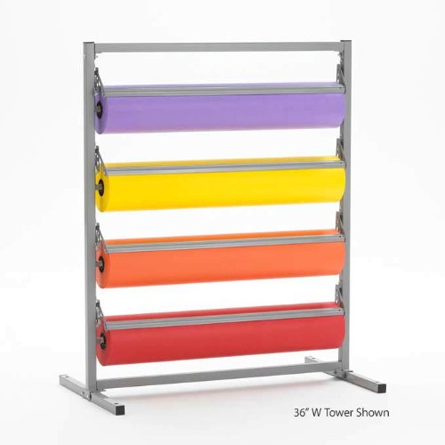 "24"" Width 4 Deck Tower Paper/ Gift Wrap Dispenser - 9"" Diameter - 3"" Core - Bulman TC369R"