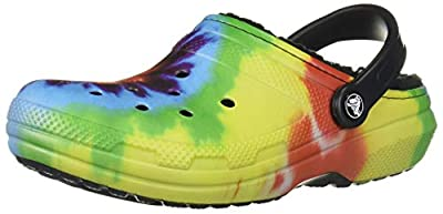 Crocs Men's and Women's Classic Lined Tie Dye Clog
