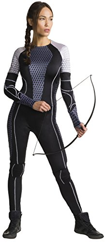 Katniss Everdeen Women's Jumpsuit Mockingjay Catching Fire Hunger Games Costume (L) (The Hunger Games: Catching Fire Katniss Costume For Women)