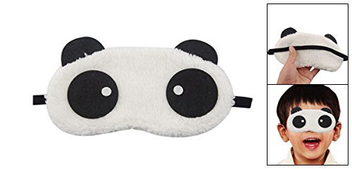 Spaufu mignon Dessin anim/é Masque de sommeil avec panda Motif masque pour les yeux de couchage pour adultes enfants Eye Patch soulager la fatigue l/éger Masque occultant respirant Masque Blanc Noir Lot de 1