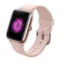 GRDE Smartwatch, Reloj Inteligente Impermeable IP68 con Monitor de Sueño Pulsómetro Podómetro Caloría GPS para Deporte,