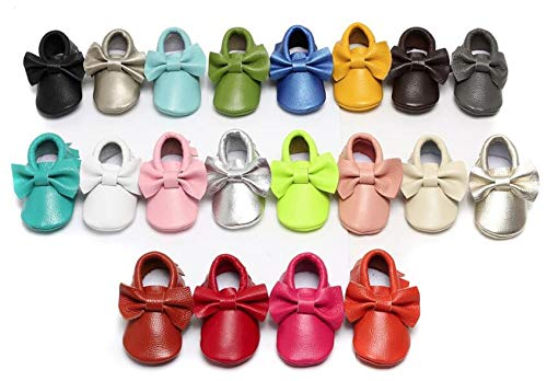 1 as The Picture donfohyx Baby Girl Fashion Cute Bow Genuine Leather Baby Moccasins Toddler Baby Girls Shoes hot
