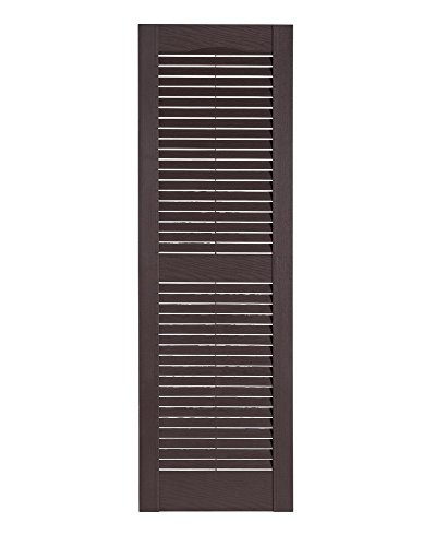 Perfect Shutters Premier Louver Exterior Decorative Shutter, 15