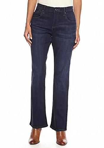 Comfort Waist Jeans Lee (LEE Women's Petite Comfort Fit Nellie Barely Bootcut Jean, Rocket, Size 16 Petite)