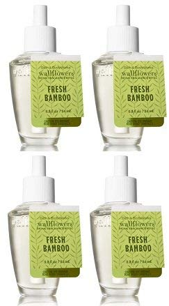 Bath and Body Works 4 Pack Fresh Bamboo Wallflowers Fragrance Refill. 0.8 Oz.