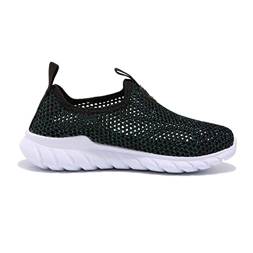 AUTUWT Boys Breathable Mesh Sneakers Lightweight Kids Casual Strap Running Shoes Green 30 by AUTUWT (Image #1)