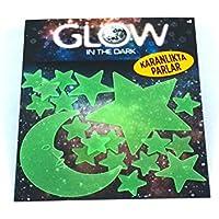 Yıldızlar Fosforlu Duvar Sticker 19 Adet