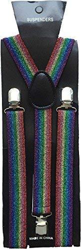 Halloween Wholesalers Suspenders (Rainbow Glitter) (2 -