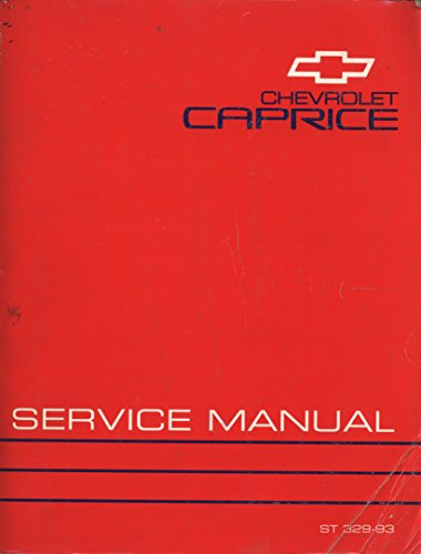 1993 Chevrolet Caprice Service Manual (ST 329-93)