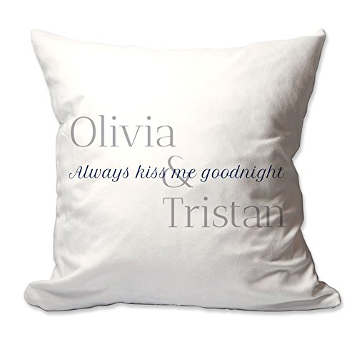 Pattern Pop Personalized Always Kiss Me Goodnight Throw Pillow