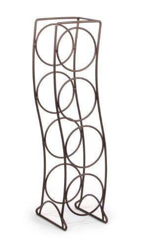 Spectrum Diversified Curve Wine Rack, 4 Bottle, Bronze