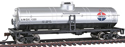 40' Metal Tank Car - Walthers Trainline 40' Tank Car with Metal Wheels Ready to Run - Amoco Oil