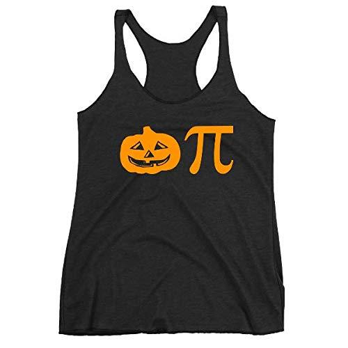 Pumpkin Pi, Pie Tank Top, Math, Geek, Funny Halloween Tank, Women's Triblend Racerback Tank, Tri-blend, Printed On Bella Canvas Tri Blend -